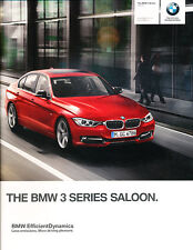 2014 BMW 3-Series 82-page UK Car Sales Brochure Catalog   328i 335i 320i 316i
