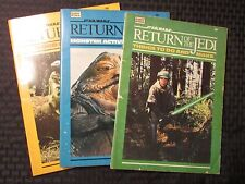 1983 STAR WARS Return Of The Jedi Puzzle Activity Books LOT of 5 VG to FN- Jabba
