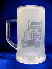 Stein 500ml with a Truck sand etched on it.