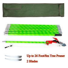 Alloy Steel 26 Foot Length Tree Pole Pruner Tree Saw Garden Tools Outdoor Cutter