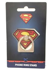 NEW BioWorld DC Comics SUPERMAN Metal 360 Degree Finger Ring Cellphone Stand