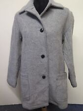 vintage orig. burberry wolle jacke mantel xs uk 8/10 euro 36-38 in grau