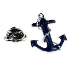 Blue Anchor & Chain Lapel Pin Badge XNP318