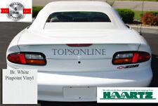 Fits 94 02 Camaro Firebird Convertible Top Heated Gl Window White Vinyl