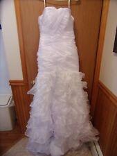 Womens JUNIORS , long,  size 5/6 white, wedding dress, w train
