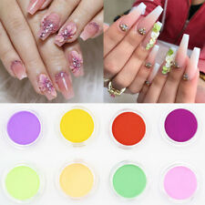 12 Boxes Acrylic Powder Pink White Mixed Colors Extension French Nail Art Tips