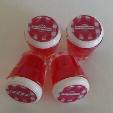 4 Pcs Dollhouse Miniatures Food & Groceries Supply Handcrafted Strawberry Jam