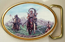Belt Buckle Barlow Photo Reproduction in Color Indian Horse Traditional 590413c