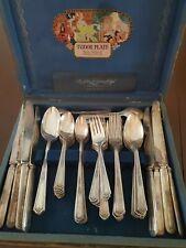 COMPLETE set of 1927 Tudor Silverplate 59 pcs with box MARY STUART ORIGINAL!!!