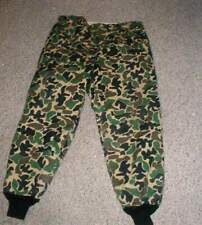 Amalgamated Workers Camo Camouflage Heavy Wool Insulated Hunting Field Pants 42