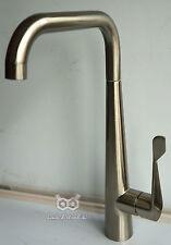 Modern Swivel Spout Kitchen Sink Mixer Brushed Steel Tap No 29