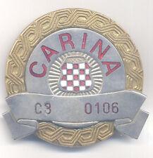 CROATIA ARMY   HVO   HERZEG BOSNIA CUSTOM BREAST BADGE   NUMBERED   GREAT RARITY