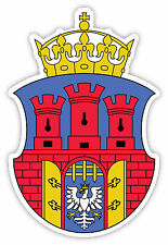 Cracovia Krakow Kraków Poland stemma coat of arms etichetta sticker 9cm x 13cm