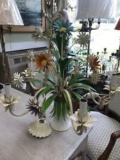 Colorful Italian painted Floral Chandelier