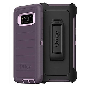 OtterBox Defender Rugged Case for Samsung Galaxy S8 PLUS Purple Easy Open Box
