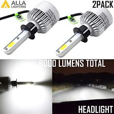 Alla Lighting H1 8000lm COB-LED High/Low Beam Headlight Bulbs Lamps Xenon White