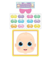 New Mum Baby Shower Pin The Dummy On The Baby Boy Girl Party Fun Gift Game
