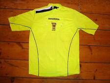 Match Worn + grandes Escocia árbitro Camiseta De Fútbol Neón SFA Jersey con bolsillos