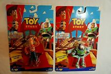 Toy Story Collectible Figure Lot of 2,Buzz Lightyear & Woody NIP Thinkway Toys