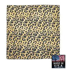 LEOPARD Skin Fur PRINT Bandana BANDANNA Scarf Scarve Head Wrap*USA MADE