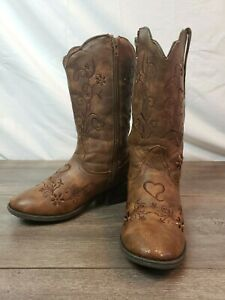 Cupcake Counter Sally Belle Toddler Girls Western Cowboy Boots Shoes Size 2M