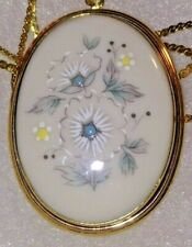Vtg Lenox Windsong 1/20 12K Gold Filled Necklace Pendant Brooch & Chain. Lovely