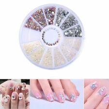 Decoration Crystal Acrylic Glitters Nail Art Tips Rhinestones Manicure Wheel