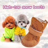 Dog Shoes Pet Warm Shoes Lambskin Snow Shoes Puppy Cotton Shoes Non-slip AU e