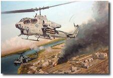 Wally's Ride by Joe Kline - AH-1W Cobra and UH-1N Helicopters- Iraqi Freedom II