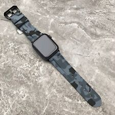 For Apple watch Series 5 44mm Heavy Duty Grey Rubber Silicone watch Strap Band