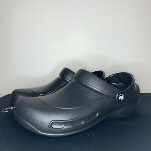 Crocs At Work Men's Bistro Clogs 10075-001 Black -SIZE : Men's 12 New!
