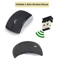 Optical 3D Wireless Foldable Mouse 2.4GHz 10 Meters Range 1200 DPI Windows Black