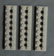 LEGO TECHNIC 3738 3x light gray Plate 2 x 8 with 7 Holes blok block brick stone