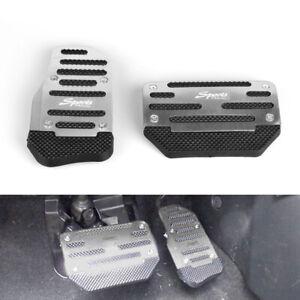 2pcs Universal Non-Slip Automatic Accelerator Brake Foot Pedal Cover Treadle US