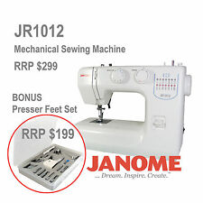 Janome JR1012 Sewing Machine Presser Feet Set Walking Foot Easy Machines Cheap