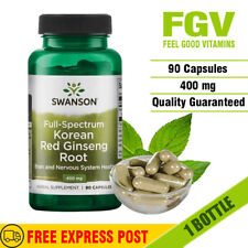 Swanson Health Products Full Spectrum Korean Red Ginseng Root capsule - 90 Count