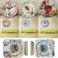 Kitchen Rules Wall Clock Vintage Cream Novelty Quote Large Shabby Chic IWW