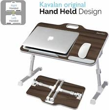 Kavalan Portable Laptop Table with Handle Angle Adjustable Stand Desk,TEAK DK-07