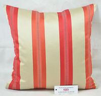 "CUSHION COVER 17""x17"" 43cm sq Kai Fabrics Haddon Stripe Paprika 100% Polyester"