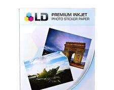 5 Sticker Paper Full Sheets White Glossy Inkjet or Laser Printer Christmas Photo