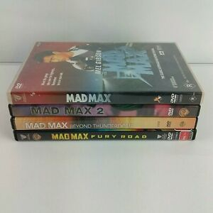Mad Max set , 4 DVDs mad max 1 & 2 beyond the thunderdome & fury road free post