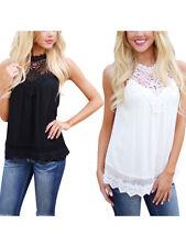 Moda Mujeres Verano Chaleco Top blusa tanque sólido Informal Sin mangas Prendas para el torso Camiseta