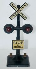"""Marx """"STOP ON SIGNAL"""" Railroad Crossing Accessory"""