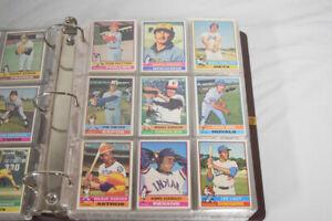 1976 Topps Baseball Complete Set in Binder Eckersley Guidry RC AG334