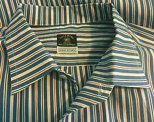 Solemare Maus & Hoffman Cotton L/S Dress Shirt LARGE Stripe Doppio Ritorto ITALY