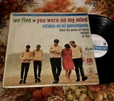 "WE FIVE ""YOU WERE ON MY MIND"" GARAGE ROCK ORIGINAL MEXICAN 1965 RARE LP VG+"