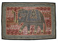 Indian Cotton Handmade Wall Decor Tapestry Elephant Patchwork Wall Hanging Piece