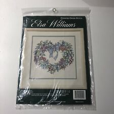 Elsa Williams Counted Cross Stitch Kit Heartfelt Wreath Floral Flowers 02044