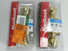 Lot of 2 Kwikset Tylo Bed & Bath Knob in Polished Brass 93001-870