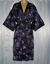 Thai Silk Kimono / Robe / Dressing Gown / Dark Blue